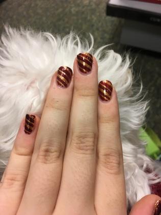 Gryffindor nail art