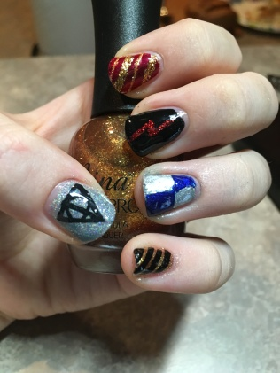 Nail art for all the Houses, except Slytherin, of course.